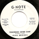 Northern Soul, Rare Soul - JEAN BROOKS W/D, TOMORROW NEVER CAME