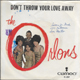 ORLONS PICTURE SLEEVE, DON'T TAKE YOUR LOVE AWAY