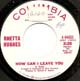 RHETTA HUGHES W/D, HOW CAN I LEAVE YOU