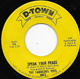 Northern Soul, Rare Soul - FABULOUS PEPS, SPEAK YOUR PEACE